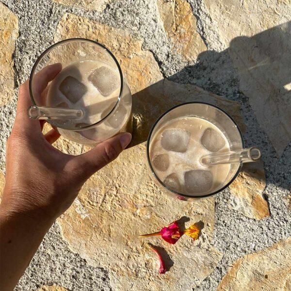 genanvendelige sugerør i glas
