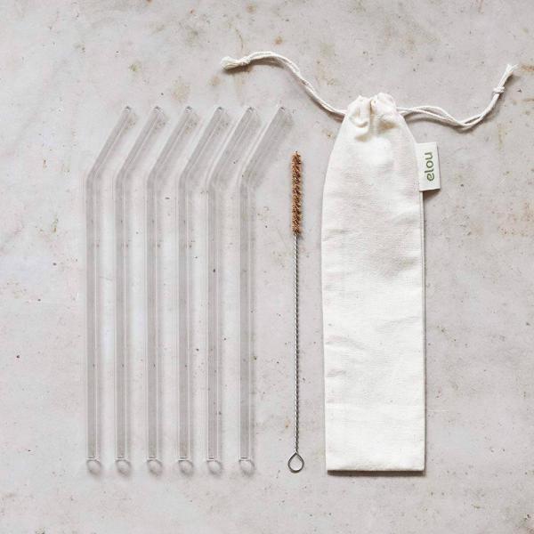 genanvendelige sugerør glas knæk