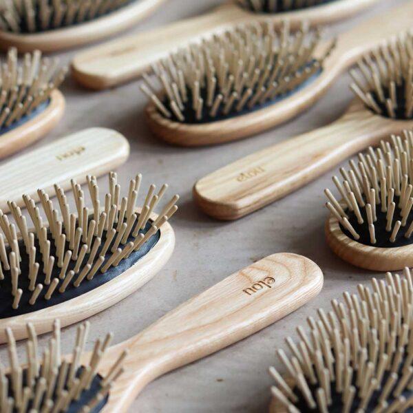 plastikfri hårbørste træ