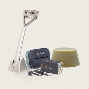 leaf shave kit - silver