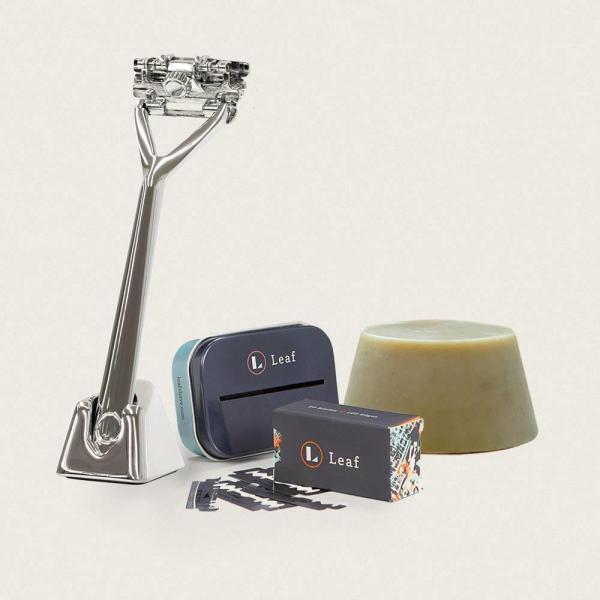 leaf shave chrome starter kit skraber