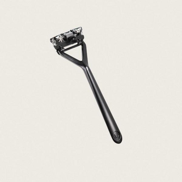 leaf shave safety razor black skraber