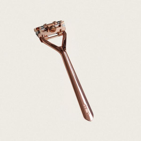 leaf shave skraber rose gold