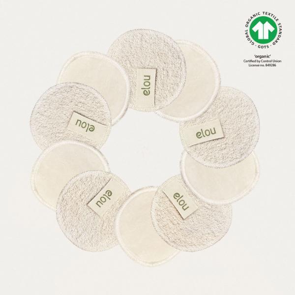 økologiske bomuldsrondeller genanvendelige