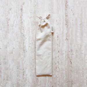 sugerørspose i økologisk bomuld