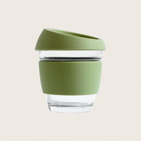 to-go kaffekop genanvendelig glas grøn